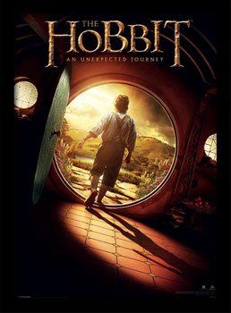 The Hobbit - One Sheet Poster emoldurado de vidro