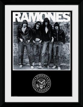 The Ramones - Album Poster emoldurado de vidro