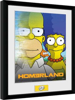 The Simpsons - Homerland Poster Emoldurado