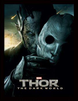 THOR 2 - malekith mask Poster emoldurado de vidro