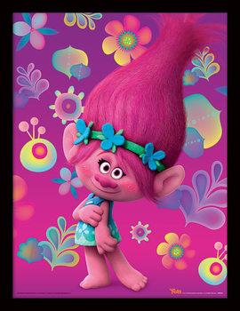 Trolls - Poppy Poster emoldurado de vidro
