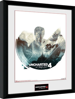 Uncharted 4 - Boats Poster Emoldurado