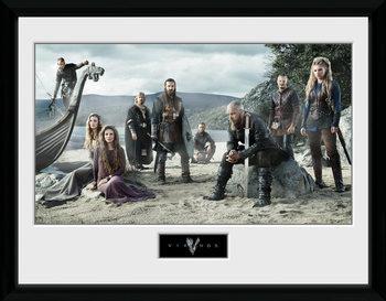 Vikings - Beach Poster Emoldurado