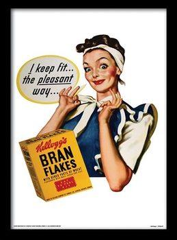 VINTAGE KELLOGGS - i keep fit Poster emoldurado de vidro