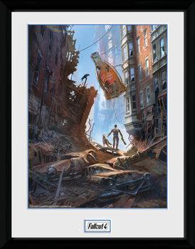 Poster emoldurado de vidroFallout 4 - Street Scene