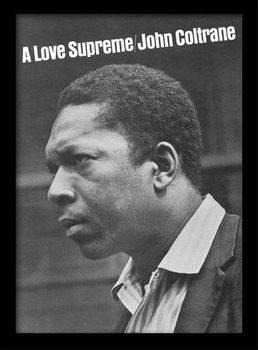 Poster emoldurado de vidroJohn Coltrane - a love supreme