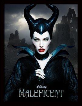 Poster emoldurado de vidroMaleficent - Dark