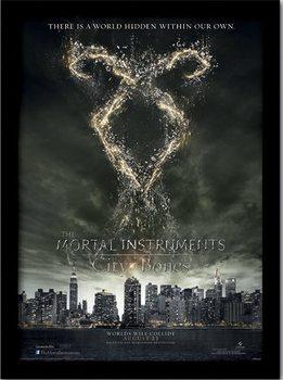 Poster emoldurado de vidroMORTAL INSTRUMENTS - rune