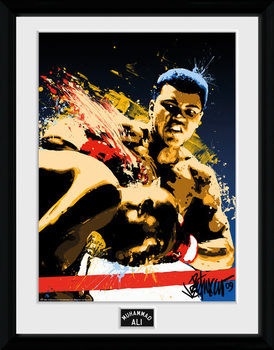 Poster emoldurado de vidroMuhammad Ali – Art 30x40cm Collector Print
