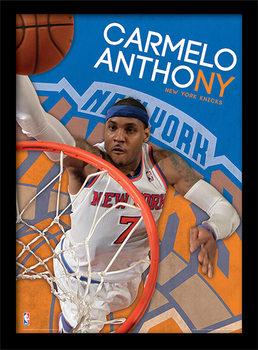 Poster emoldurado de vidroNBA - Carmelo Anthony
