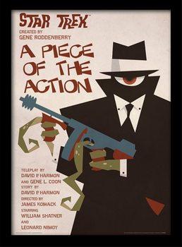 Poster emoldurado de vidroStar Trek - A Piece Of The Action