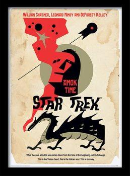 Poster emoldurado de vidroStar Trek - Amok Time