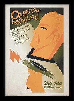 Poster emoldurado de vidroStar Trek - Operation: Annihilate!