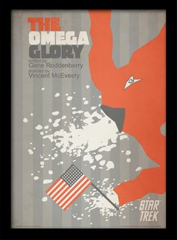 Poster emoldurado de vidroStar Trek - The Omega Glory