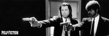 Framed Poster Pulp Fiction - b&w guns