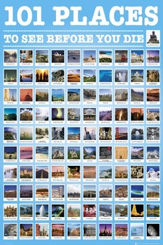 Poster 101 Places to see