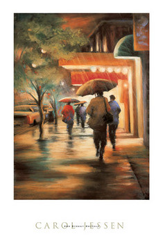 2nd Street Drizzle Art Print