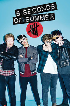 5 Seconds Of Summer - Glasses Poster, Art Print