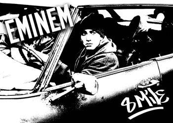 8 MILE - Eminem car b&w Poster