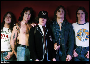 AC/DC - 70s Group Poster