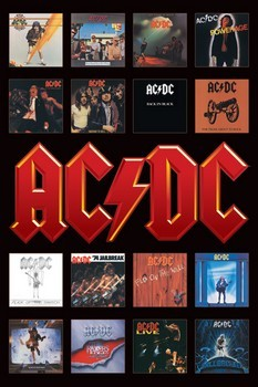 Pôster AC/DC - album covers