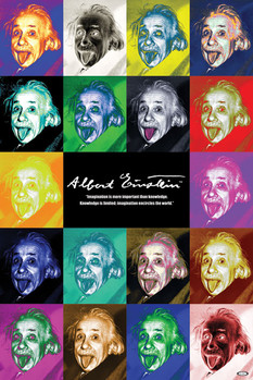 Albert Einstein - pop art Poster