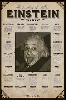 Albert Einstein - quotes Poster, Art Print
