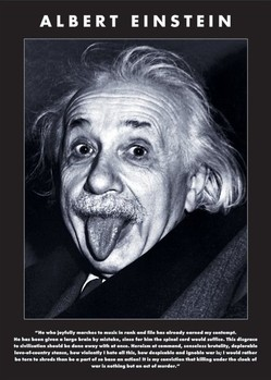 Pôster Albert Einstein - tongue