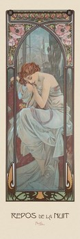 Alfons Mucha - rest of the night Poster