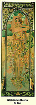 Alphonse Mucha - Le Jour, 1899 Poster, Art Print