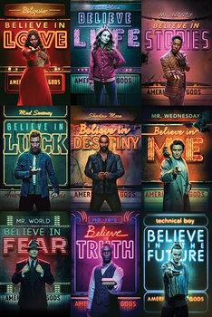 American Gods - Characters Poster