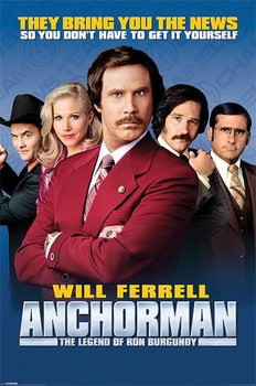 ANCHORMAN - cast Poster, Art Print