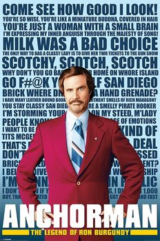 ANCHORMAN - quotes Poster, Art Print