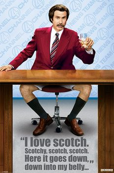 ANCHORMAN – scotch Poster, Art Print