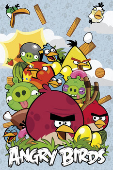 Angry birds - collage Poster