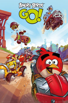 Angry birds - go racing Poster