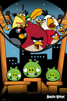 Angry birds - On A Wire Poster