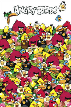 Angry birds - pile up Poster