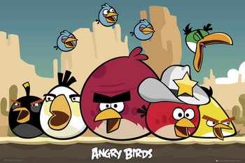 Angry birds - sheriff Poster