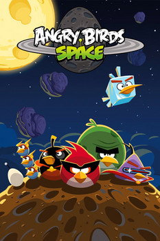 Angry birds - space s.o.s. Poster
