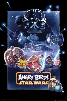 Angry birds Star Wars - battle Poster