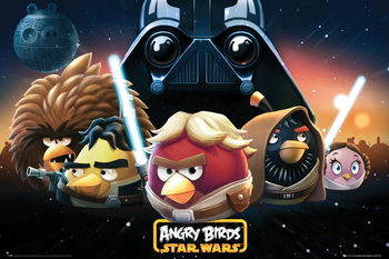 Angry birds Star Wars - space Poster