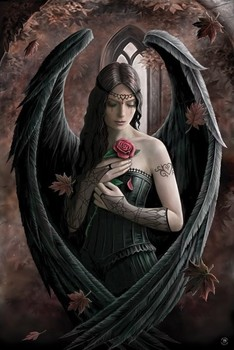 Anne Stokes - angel rose Poster, Art Print