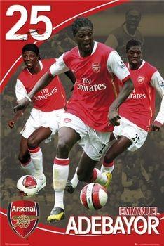 Arsenal - adebayor 07/08 Poster