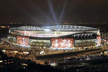 Arsenal - emirates stadium night Poster