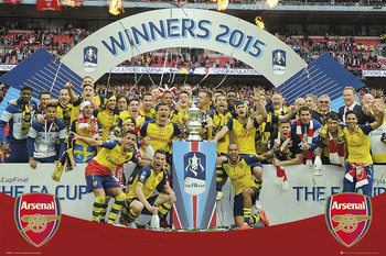 Arsenal FC - FA Cup Winners 14-15 Poster, Art Print