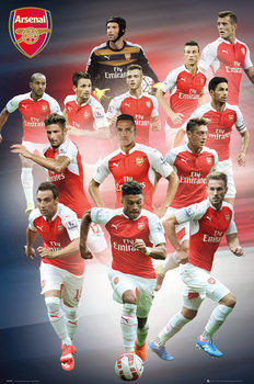Arsenal FC - Players 15/16 Poster, Art Print