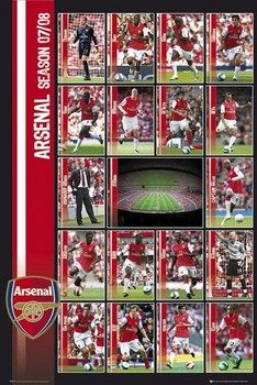 Arsenal - squad profiles 07/08 Poster