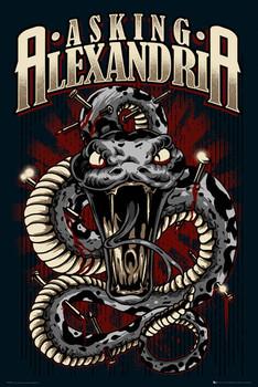 Asking Alexandria - snake Poster