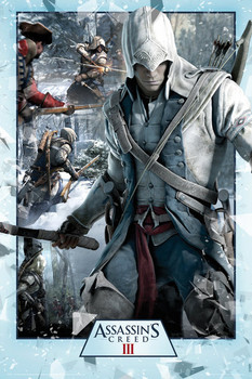 Assassin's creed III - collage Poster